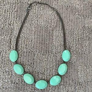 Turquoise j. Crew statement necklace